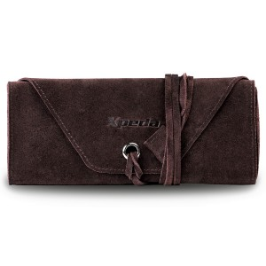 Genuine Suede Leather Watch Roll - Brown