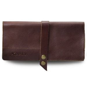 Tanned Genuine Leather Watch Pouch - Brown