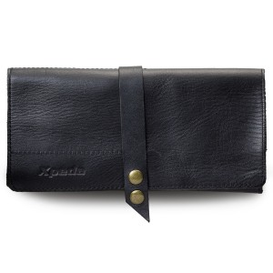 Tanned Genuine Leather Watch Pouch - Black